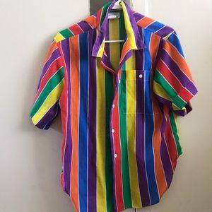 Rainbow Button Down
